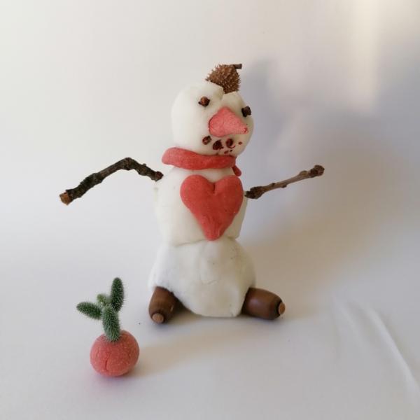 Bonhomme de neige en pâte auto-durcissante