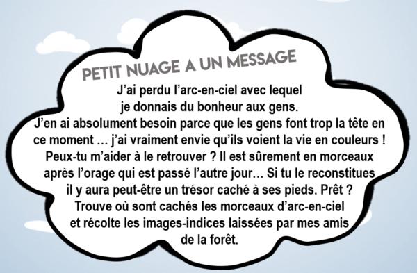 Message de chasse au trésor KID&Klic Petit Nuage