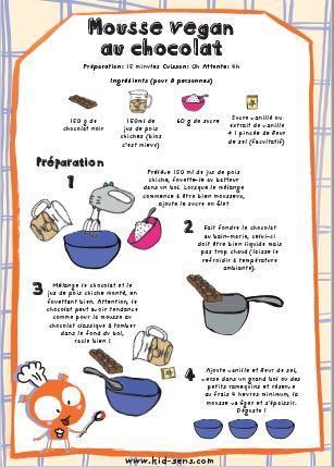 Recette de mousse au chocolat vegan KID&Klic