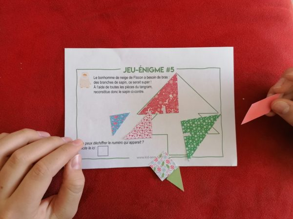 Jeu énigme du tangram pour la chasse au trésor à organiser pour votre enfant