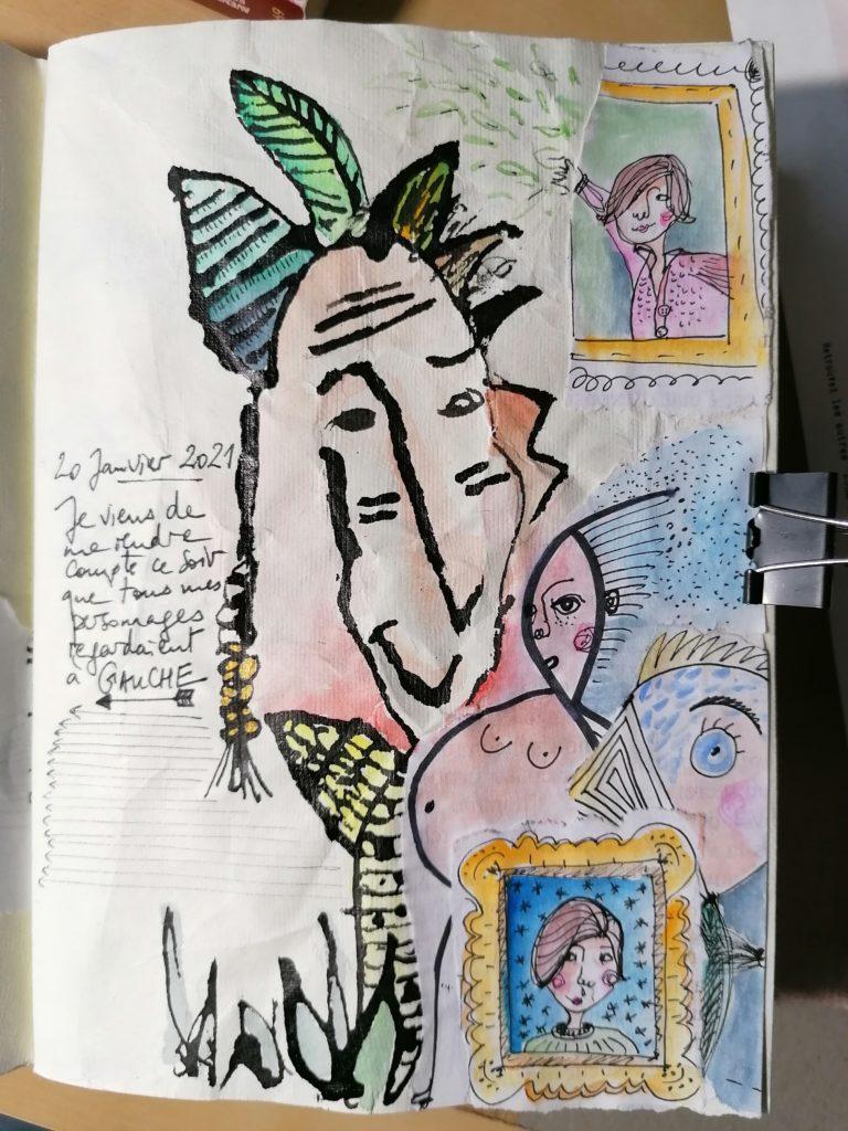 Page froissée dans un carnet créatif pour libérer sa créativité